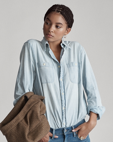 c9b0d11e96c Relaxed Fit Chambray Shirt