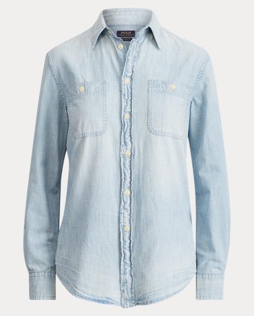 7dbfe74a0 Relaxed Fit Chambray Shirt | Button Downs Shirts & Tops | Ralph Lauren