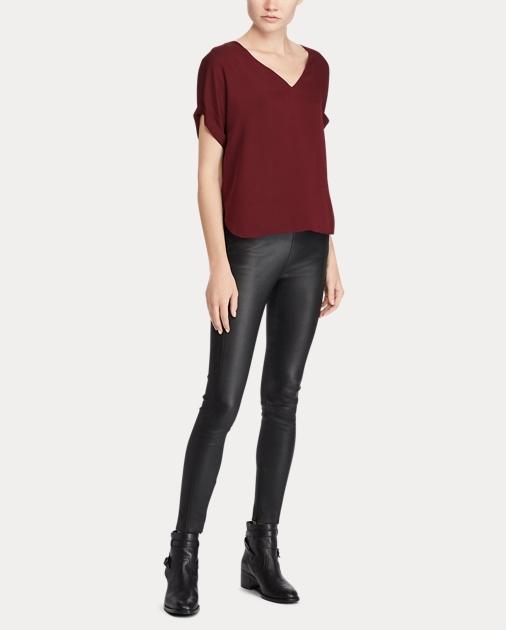 bcc499c361 Silk Georgette V-Neck Top | Tops & Blouses Shirts & Tops | Ralph Lauren