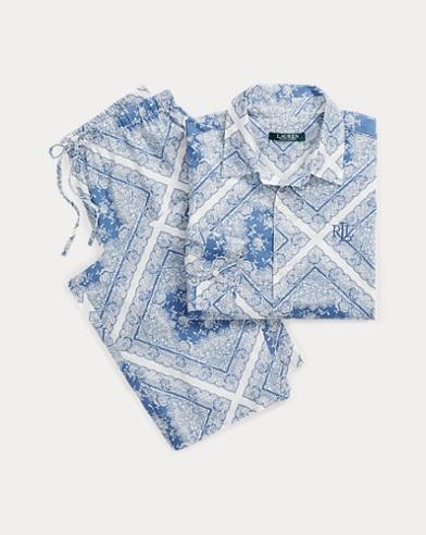 Pyjama capri à imprimé bandana
