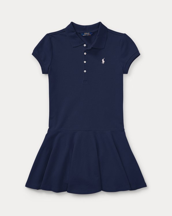 폴로 랄프로렌 Polo Ralph Lauren Stretch Cotton Mesh Polo Dress,Navy