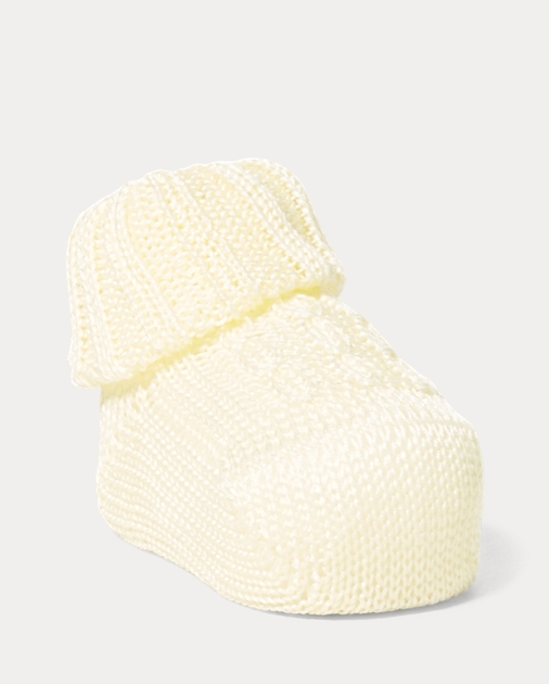 Baby Cable-Knit Cotton Booties 2