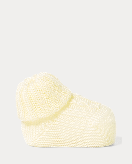 Baby Cable-Knit Cotton Booties 1