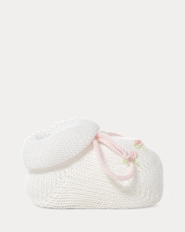 Rosette Cotton-Blend Booties