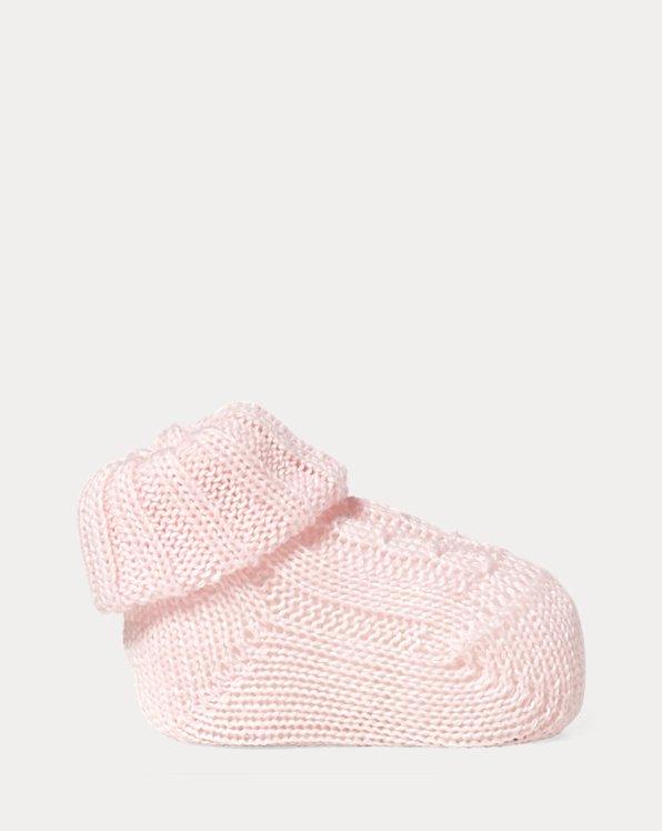 Cable-Knit Cotton-Blend Bootie