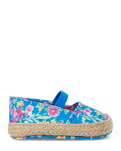 Baby Girl Bowman Floral Canvas Shoe 2