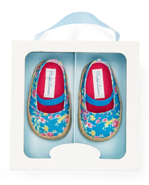 Baby Girl Bowman Floral Canvas Shoe 3