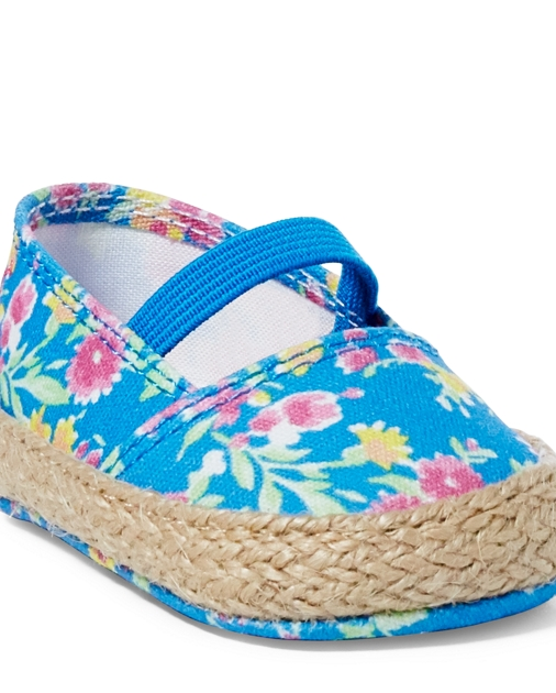 Baby Girl Bowman Floral Canvas Shoe 1
