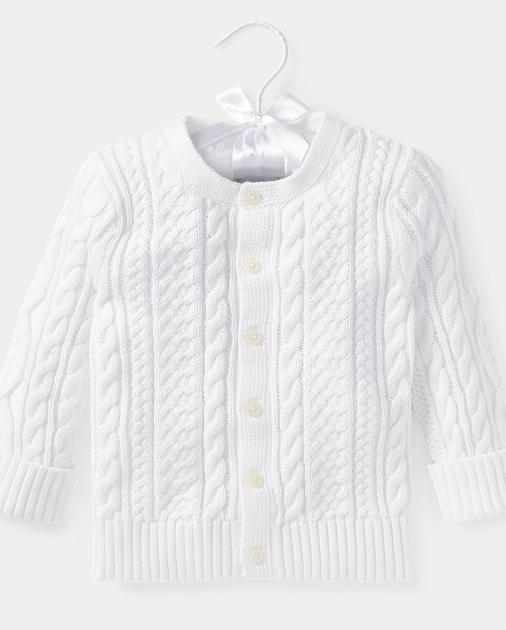 cd06369741 Aran-Knit Cotton Cardigan | Ralph Lauren UK
