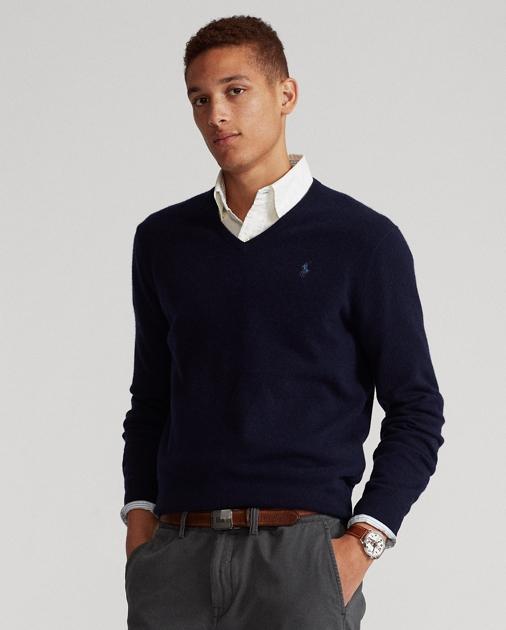 324cf26d5c31 Merino Wool V-Neck Sweater