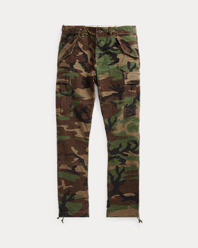 Slim Fit Camo Cargo Trouser