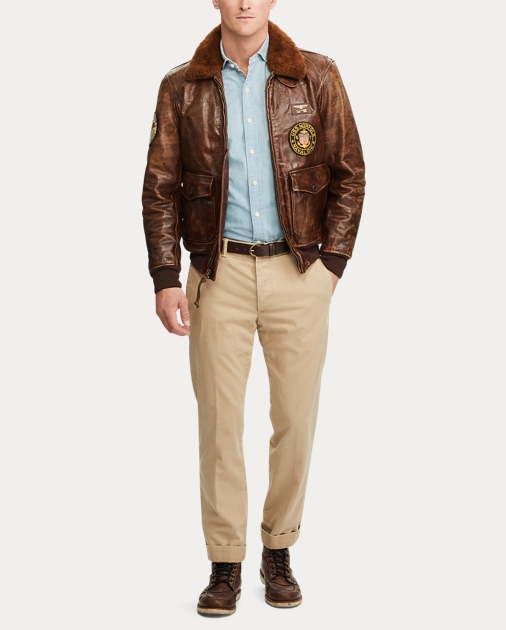 f5421b18bd Polo Ralph Lauren The Iconic G-1 Bomber Jacket 3