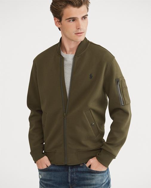 Ralph Knit Bomber Coats JacketJacketsamp; Double Lauren TulJcFK135