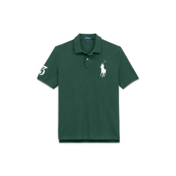 Ralph Lauren Classic Fit Mesh Polo Shirt Northwest Pine Xs