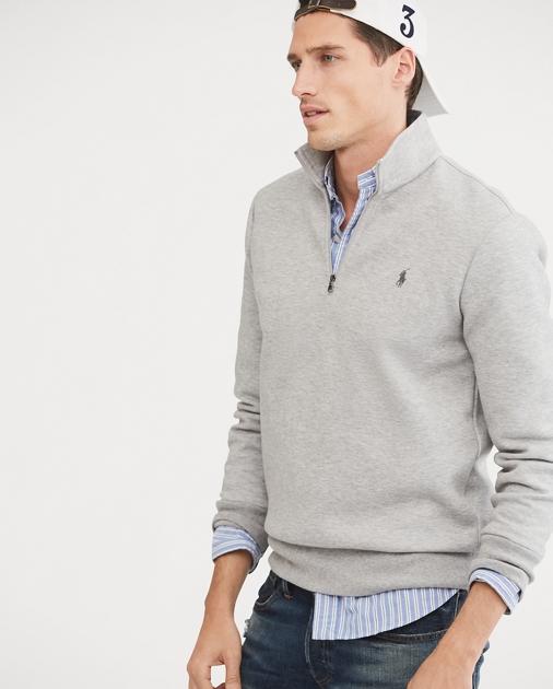 reputable site e7e9c 35a62 Double-Knit Half-Zip Pullover | Sweatshirts T-Shirts ...