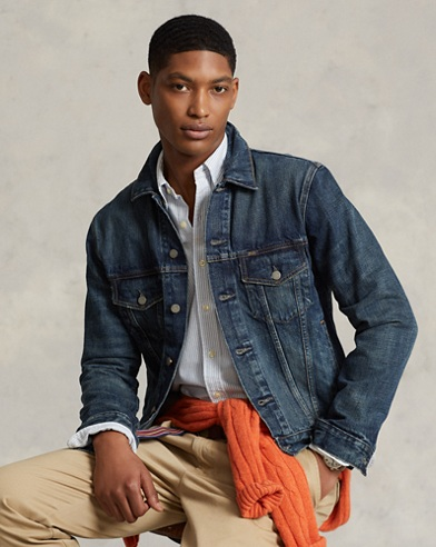 Faded Denim Trucker Jacket