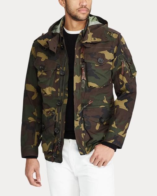 1cfe8d047c9 Camo Hooded Utility Jacket