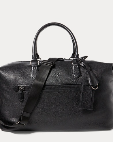 Pebbled Leather Duffel Bag