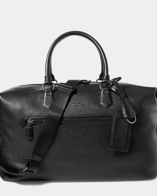 a9fec607573a Polo Ralph Lauren Pebbled Leather Duffel Bag 1