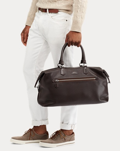 9174bde6bfeb Pebbled Leather Duffel Bag. Polo Ralph Lauren