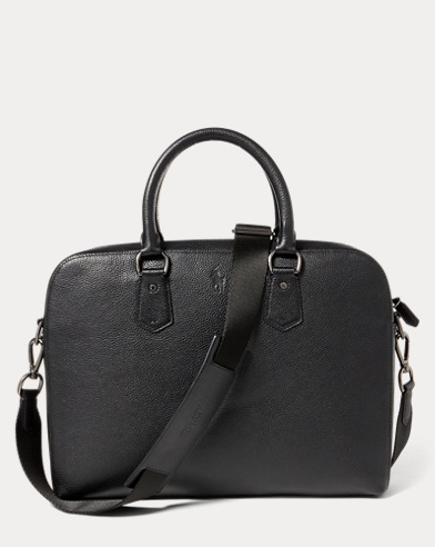 4128381ceb0d Bags. Pebbled Leather Briefcase