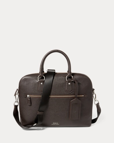 3454150ef356 Pebbled Leather Briefcase. Polo Ralph Lauren