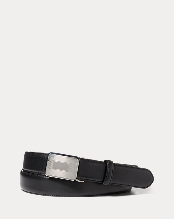 폴로 랄프로렌 벨트 Polo Ralph Lauren Engine-Turned Leather Belt,Black
