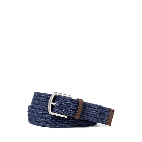 폴로 랄프로렌 Polo Ralph Lauren Stretch Waxed Cotton Belt,Navy