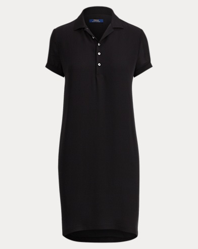 Robe Polo en georgette de soie