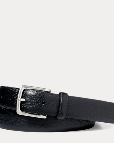 Pebbled Leather Dress Belt