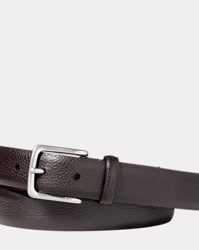 Pebbled Leather Dress Belt
