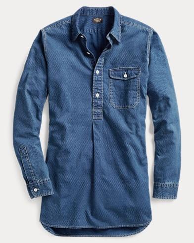 Dot-Print Cotton Tunic