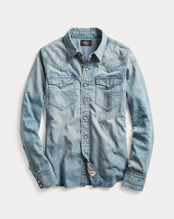 Indigo Denim Western Shirt