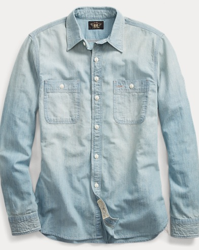 Camicia in chambray indaco
