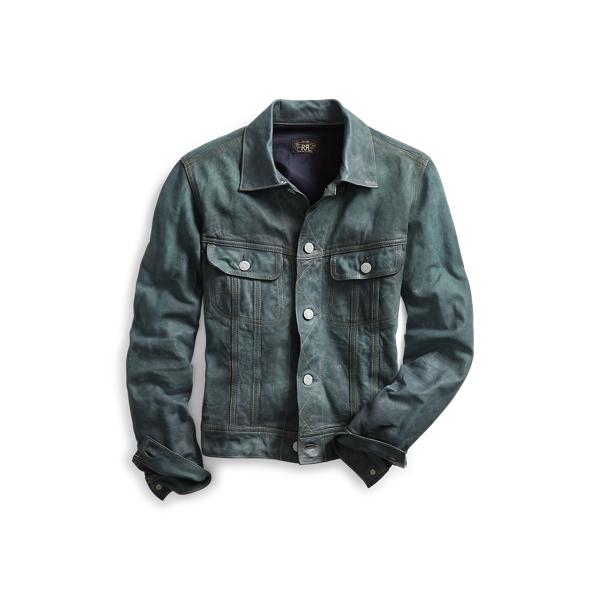 Ralph Lauren Indigo Leather Jacket Indigo 1