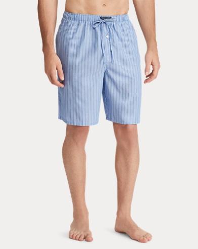 Striped Cotton Pajama Short