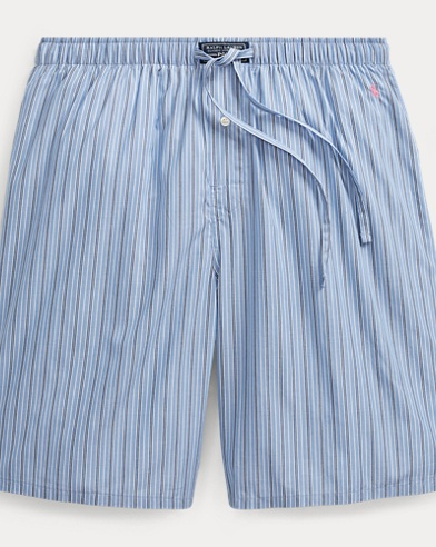 Striped Cotton Pajama Short
