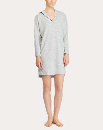 d2b40b1e0c Jacquard-Knit Hooded Nightgown. Lauren