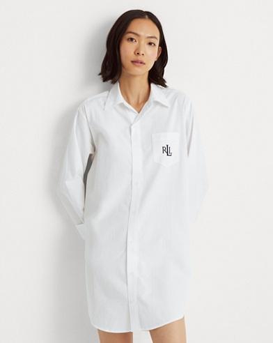 Cotton Dobby Pajama Shirt. Lauren 6b9bb618c