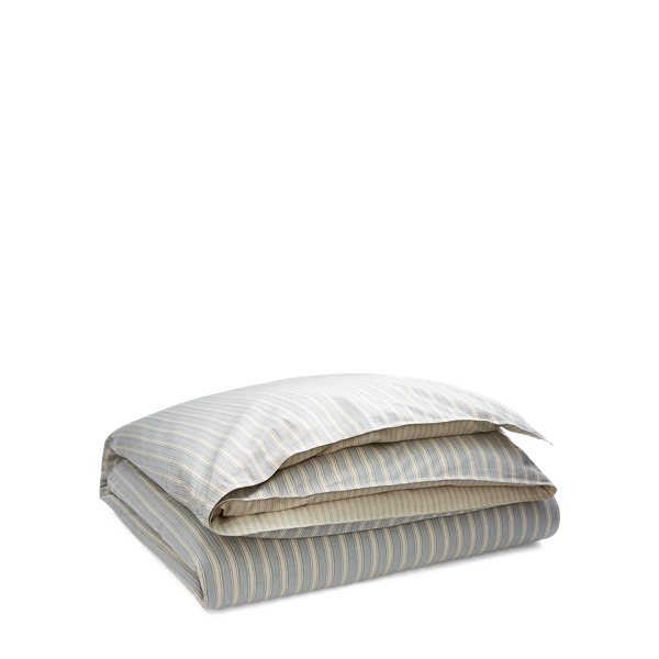 Ralph Lauren Graydon Striped Comforter Dune And Indigo Twin