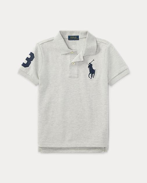 Ralph Lauren New Boys Classic Mesh Polo Shirt Deep Red