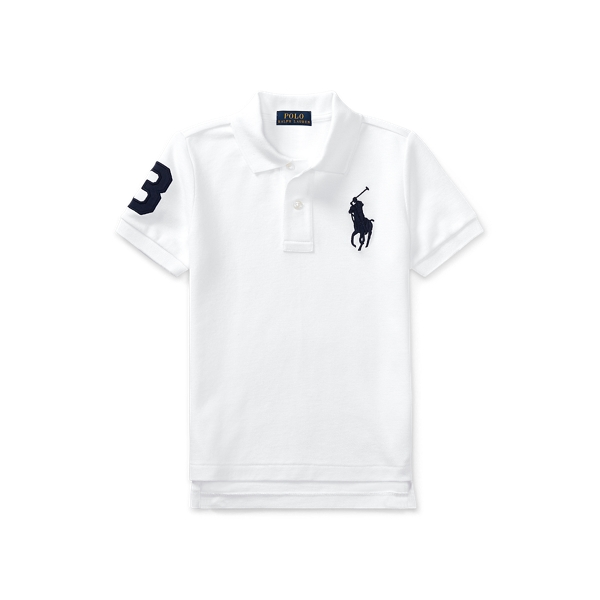 폴로 랄프로렌 남아용 폴로 셔츠 Polo Ralph Lauren Big Pony Cotton Mesh Polo,White
