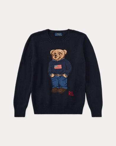 Suéter de algodón con el osito de Polo