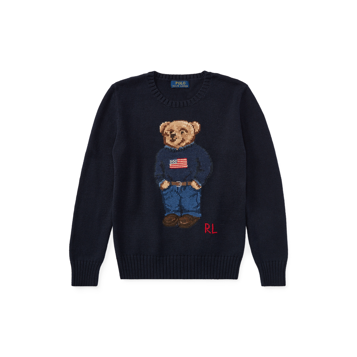 Boys' 20 Polo Bear Ralph Cotton Lauren SweaterSweaters 8 6vYfgb7y