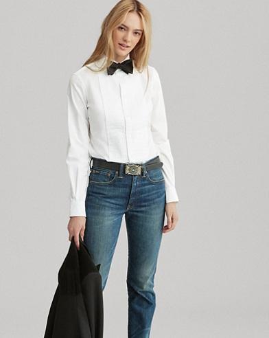 Camicia dasmoking in popeline