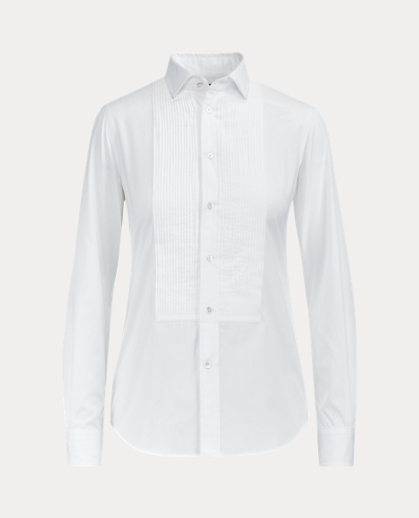 Cotton Broadcloth Tuxedo Shirt
