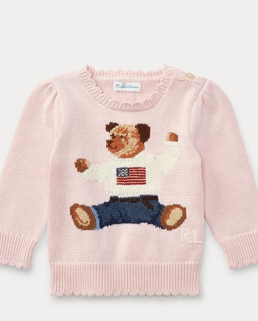 Baby Polo Cotton 24 SweaterSweaters MonthsRalph Bear Girl0 QeBWrdCxo