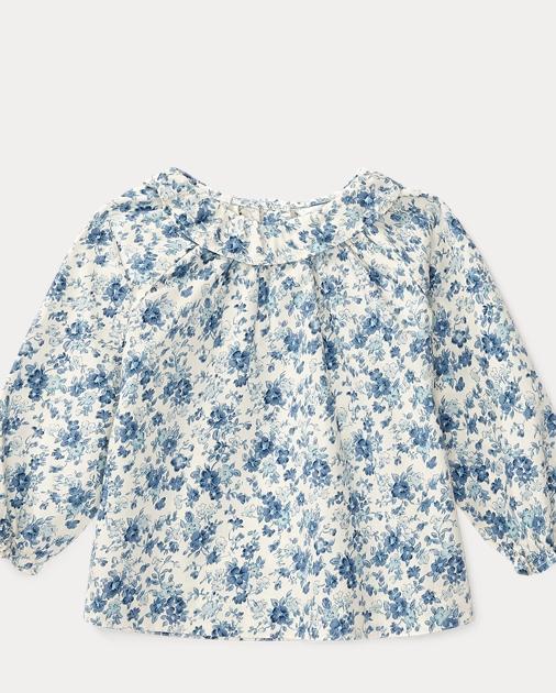 df05521ec6 Floral-Print Cotton Top | Polos, Tops & Bodysuits BABY GIRL (0-24 ...