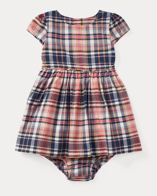 8e5c771beb Plaid Cotton Dress & Bloomer | Dresses BABY GIRL (0-24 months ...