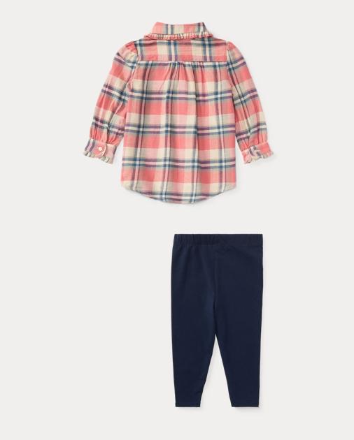 30647e3a02 Plaid Shirt & Legging Set | Outfits & Gift Sets BABY GIRL (0-24 ...